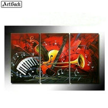 ArtBack three fight 5d diy diamond painting music instrument pattern full square mosaic abstract home decoration
