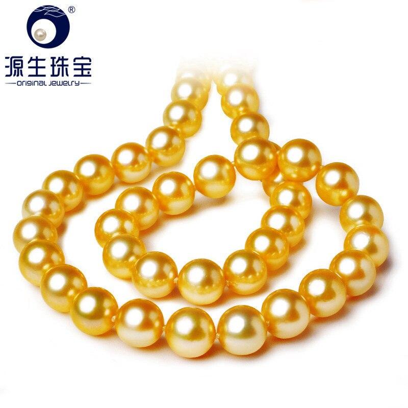 YS 7-7.5mm brillant naturel eau salée japonais Akoya perle chaîne collier 14K or fermoir mariage bijoux fins