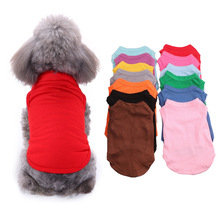 Summer Solid Dog Shirts Soft Cotton Thin Clothes for Small Dogs Chihuahua Outfit Blank Puppy Vest Elasticity Pet Costume XS-3XL