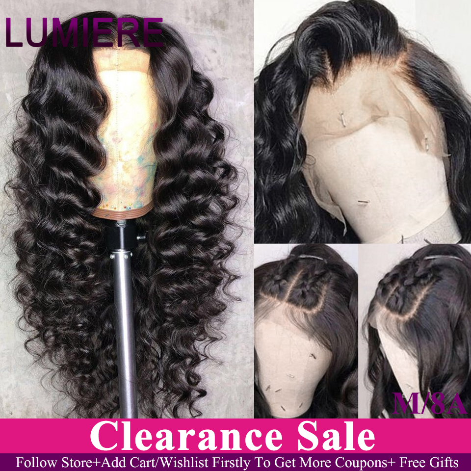 Lumiere Hair 13X4 Lace Front Human Hair Wigs Indian Loose Deep Remy Human Hair Wigs &360 Lace Frontal Wig Pre Plucked