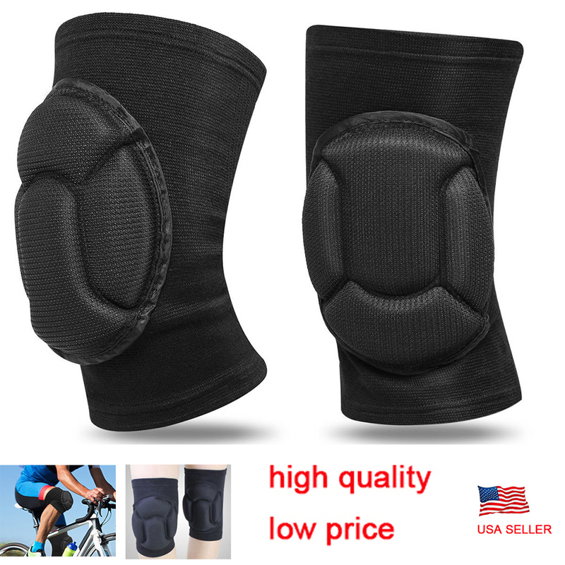 LPRED Fully Adjustable 1 Pair Knee Pads with Protective Gear Useful for Gardening Sports and Bike Riding for Safety