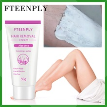 FTEENPLY Hair Removal Cream Aloe Vera Removes Underarm Leg Body Care Lightening Nourishing Repairing Loss Depilatory Cream 50g
