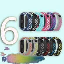 Smart Band Strap For Mi Band 6 TPU Wristband Smart Dual Color Breathable Strap For Xiaomi Mi Band 6 Fitness Bracelet Accessories