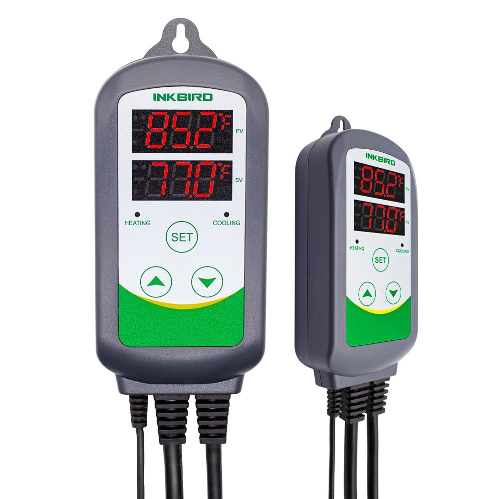 Termostato digitale Inkbird ITC-308 Uscita termostato caldo e freddo, Carboy, Fermentatore, Serra per terrari Temp.