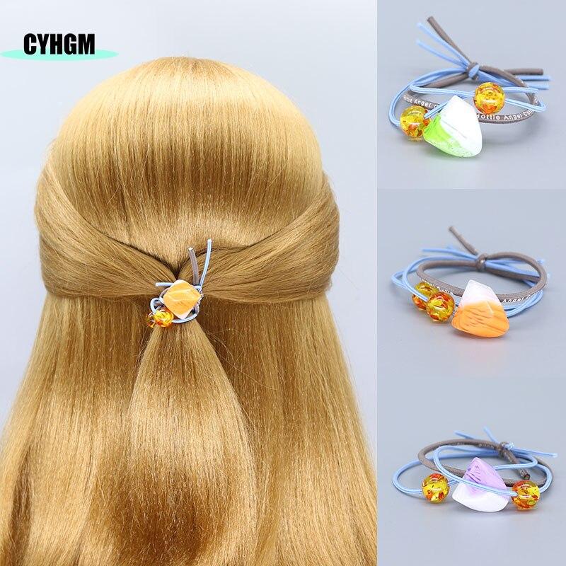 Girls Fashion Elastic Hair Bands Hair Ties Vsco Scrunchies Opaska Do Wlosow Femme Hair Rubber Band Women Hair Accessoires G03-3