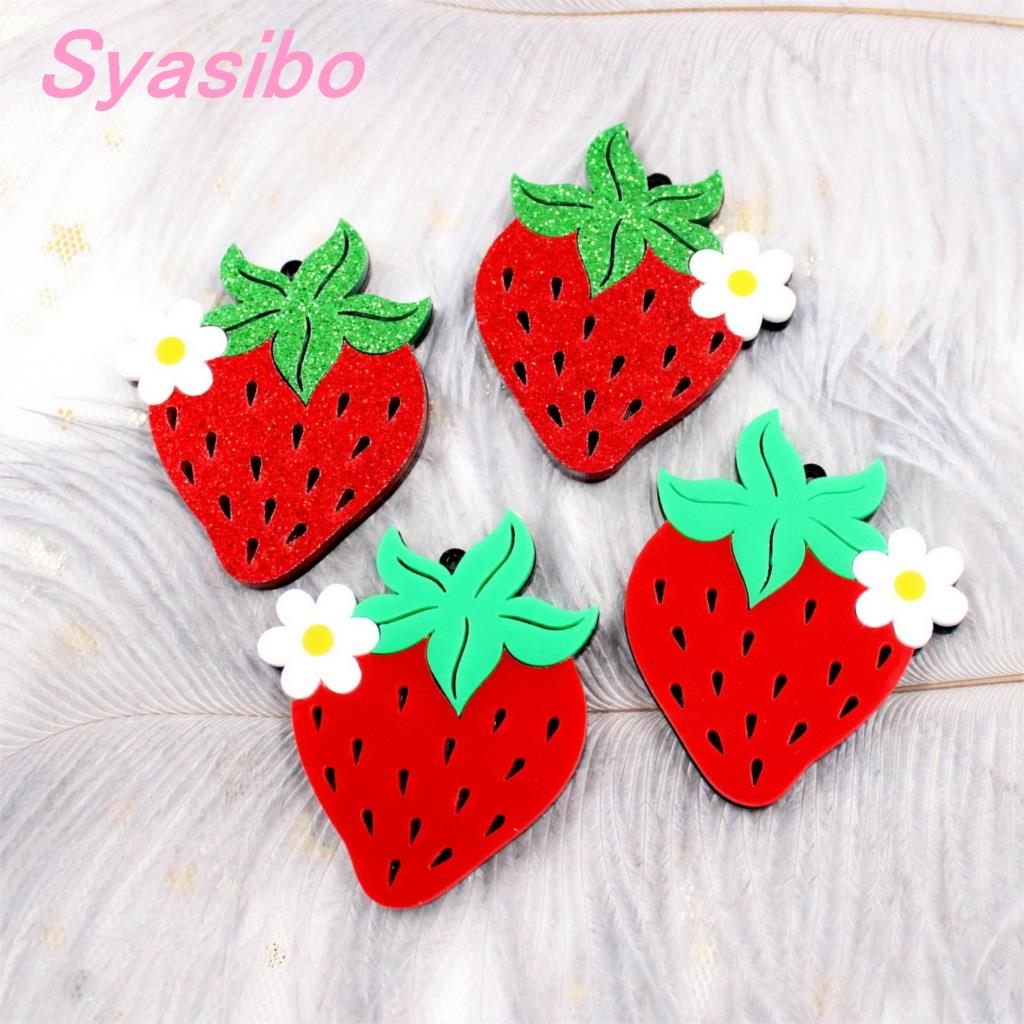 (2pairs)50mm Acrylic Strawberry For Earring High Quality Acrylic Laser Cutout-AC1623