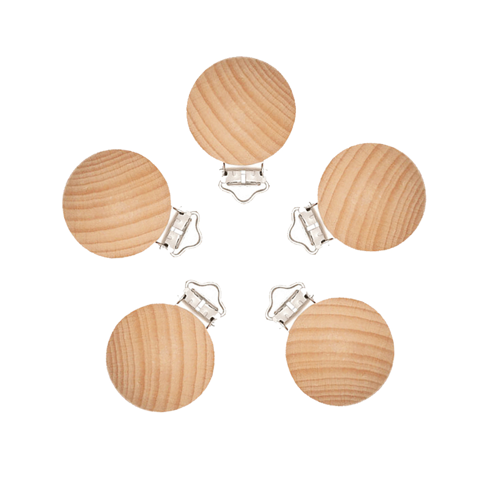 Mabochewing 20pcs 30mm Fast Free Shipping Natual Beech Wood Clips for Baby Mobile Chewing Pacifier Chain