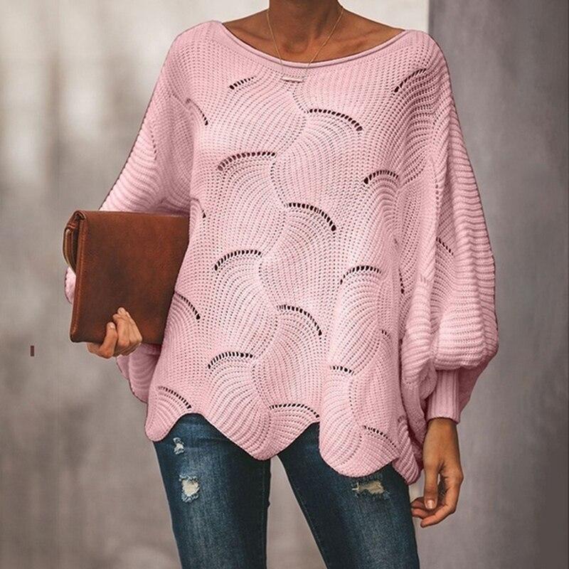 Женские свитера, теплый пуловер и джемперы, пуловер с вырезом лодочкой, осень 2020, вязаные свитера на Рождество