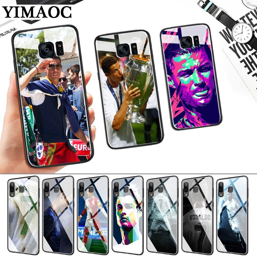 Cool Cristiano Ronaldo CR7 Glass Case for Samsung S7 Edge S8 S9 S10 Plus S10E Note 8 9 10 A10 A30 A40 A50 A60 A70