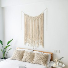Household  Concise Solid Color Handmade Room Decoration Wall Hanging Tapestries Party decoration Weeding