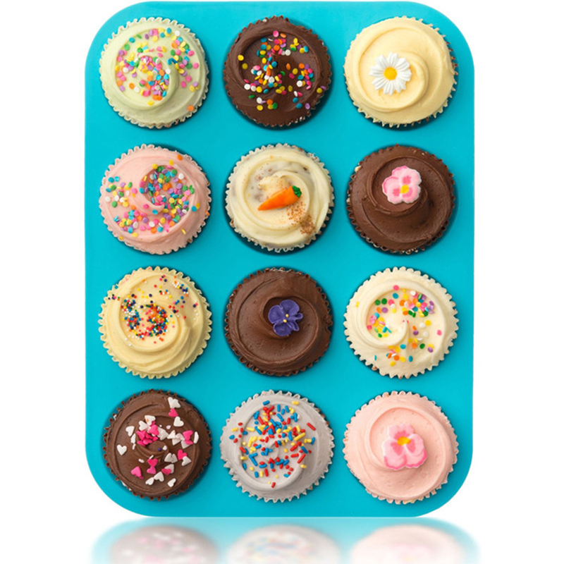 12 Cup High Quality Silicone Muffin Tins 2