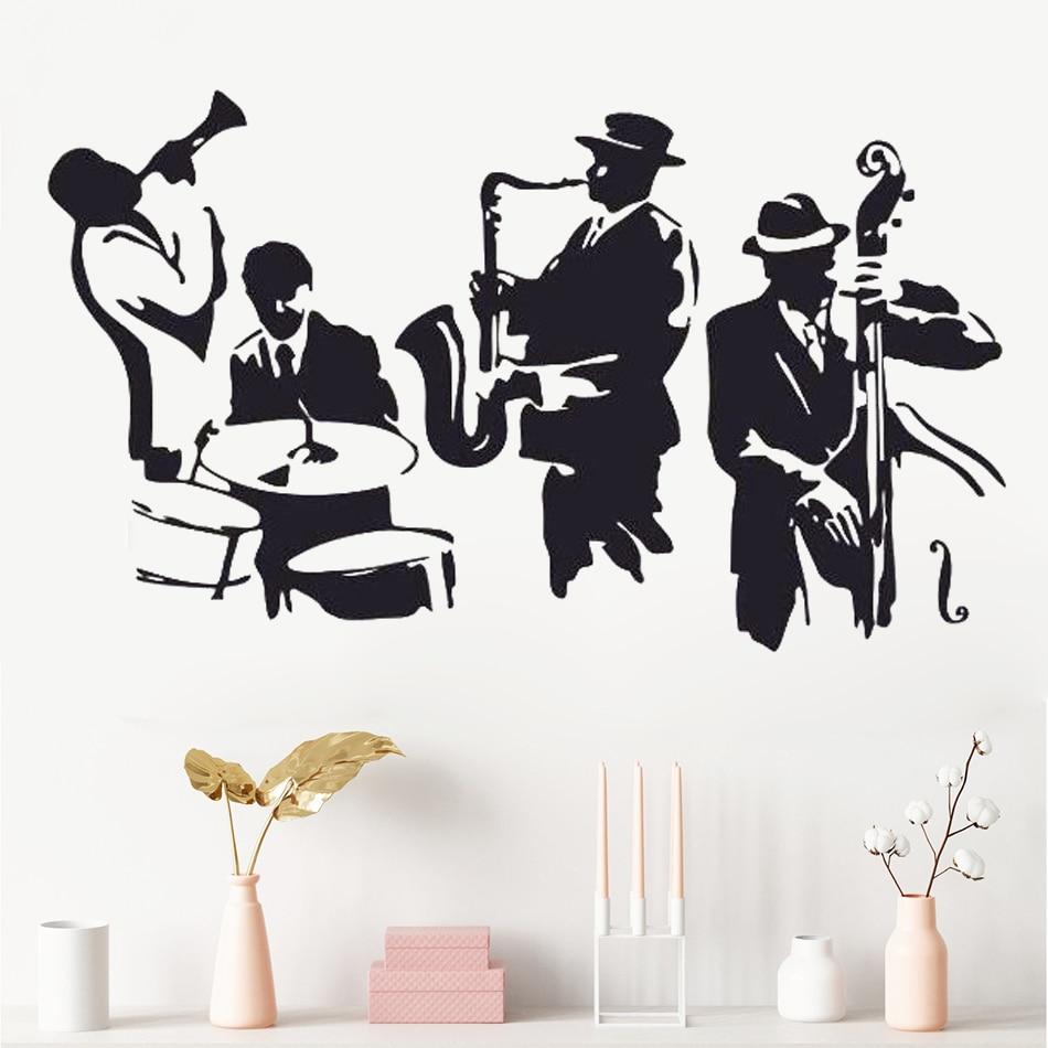 Stickers Islam Pas Cher us $5.92 25% off wall decal jazz saxophone instrument tool band musical  player sticker art vinyl drums bass wall decal vinyl mural adesivo wa  24 wall