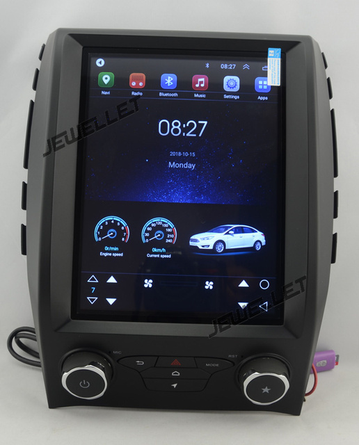 """10.4"""" tesla style vertical screen octa core android 9 Car GPS radio Navigation for ford Edge 2015-2017 automatic A/C"""