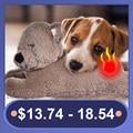 Игрушка для собак, домашний питомец с подогревом, поведенческий щенок, помощь в домашних тренировках, Успокаивающая плюшевая кукла для умно...