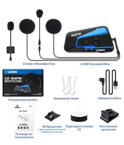 Image 5 - Lexin LX B4FM 4 Riders 1600M Bluetooth intercomunicador moto,Motorcycle Intercom Headsets with FM Radio BT Helmet Headset intercomunicadores de casco moto