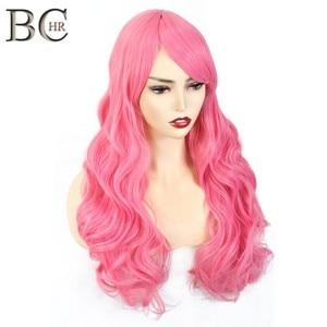 Длинные волнистые синтетические парики BCHR для женщин, парик для косплея, парики блонд, синий, розовый, серый, фиолетовый, серый, оранжевый, че...