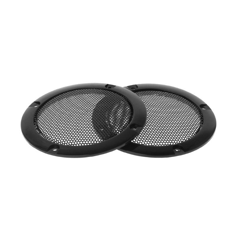 "Red 2pcs 3/"" Speaker Decorative Circle w//Black Protective Grille Mesh"
