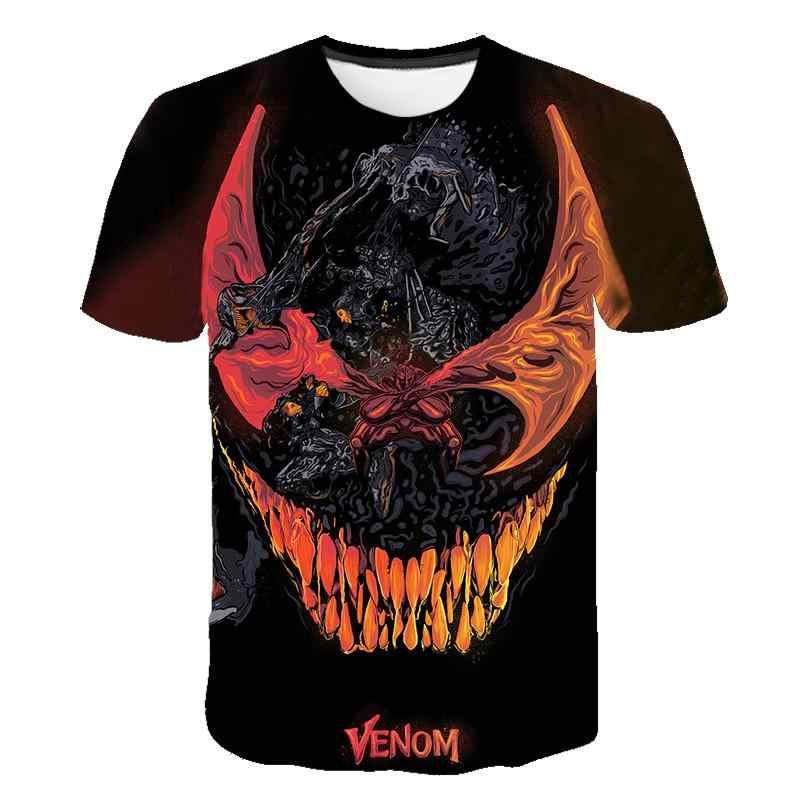 עכביש ארס חולצה 3d מודפס חולצות גברים נשים מקרית חולצה קצר שרוול כושר T חולצה Deadpool Tees איש עכביש גולגולת חולצות