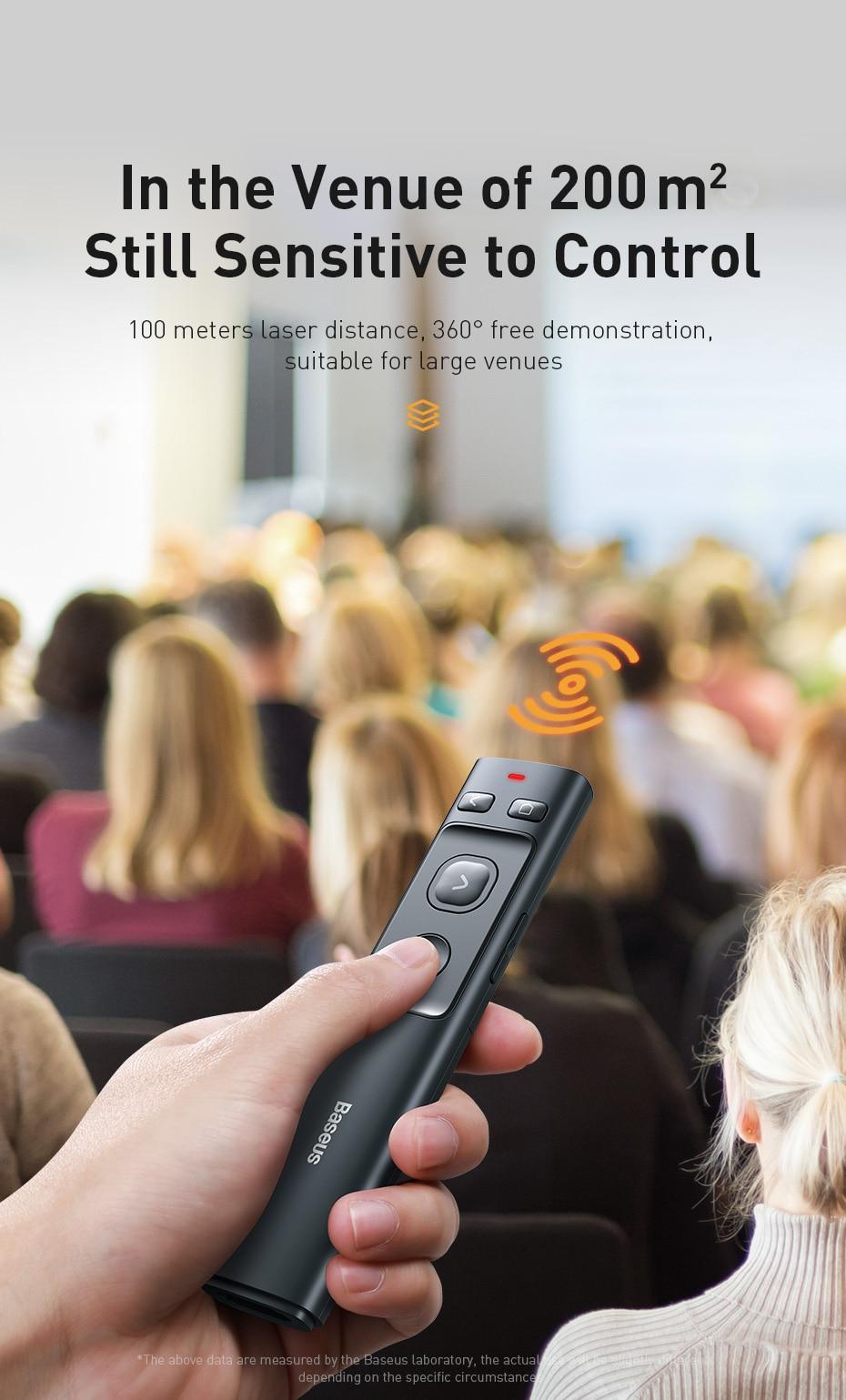 Baseus Orange Dot Wireless Presenter 9