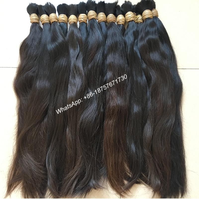 """Gros haute qualité 18 """"-36"""" réel naturel vierge Remy cheveux en vrac, cheveux humains tressage cheveux en vrac, faisceaux de cheveux humains naturels"""
