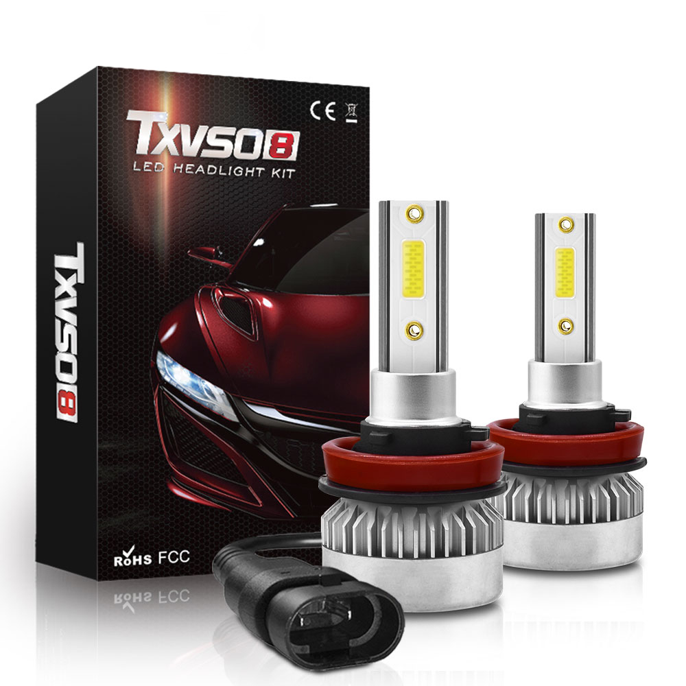 H7 2X H7 H1 H8 H9 H11 9005 9006 9012 Car LED Headlight COB Bulbs 6000K 20000LM 110W Auto LED Headlights Car Styling