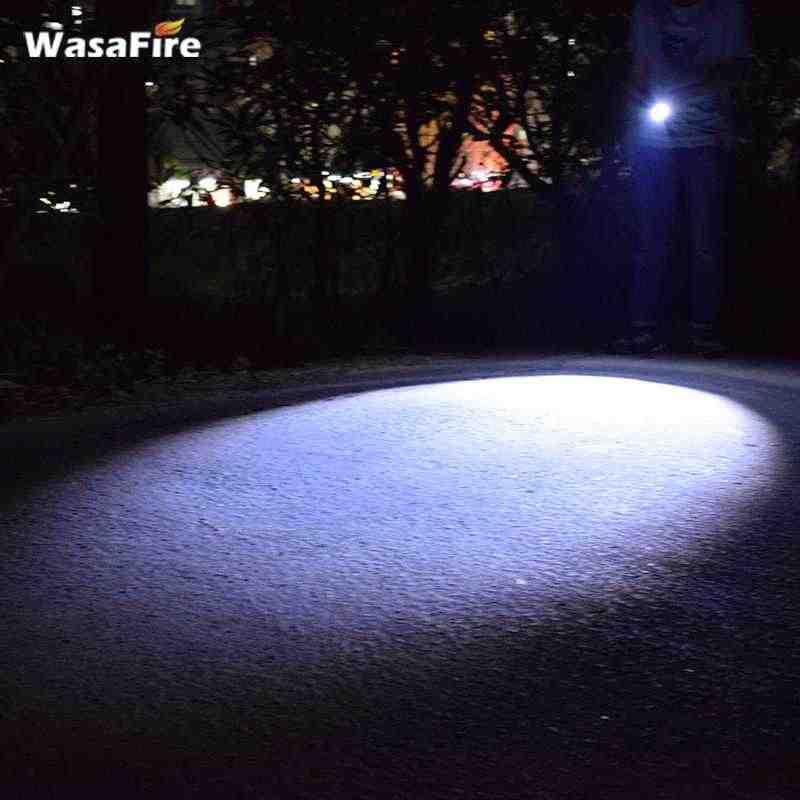 Sạc Tự Vệ Đèn Led Với Lưỡi Dao 18650 Phóng To 3 Chế Độ Đèn Pin Đèn Chiến Thuật Đèn Lồng Có Dụng Cụ Phá Kính