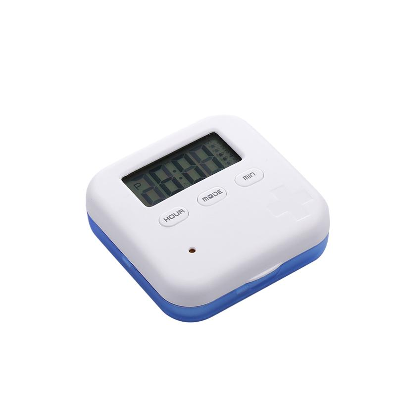 ROSENICEPill Box Timer Alarm Clock Convenient Mini Pill Container for Travel