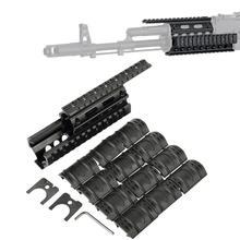 Тактический Падение в Quad Rail Scope Mount RIS Handguard для AK 47 AK74 AKS для охоты стрельбы страйкбола винтовка аксессуар с рельсовой крышкой