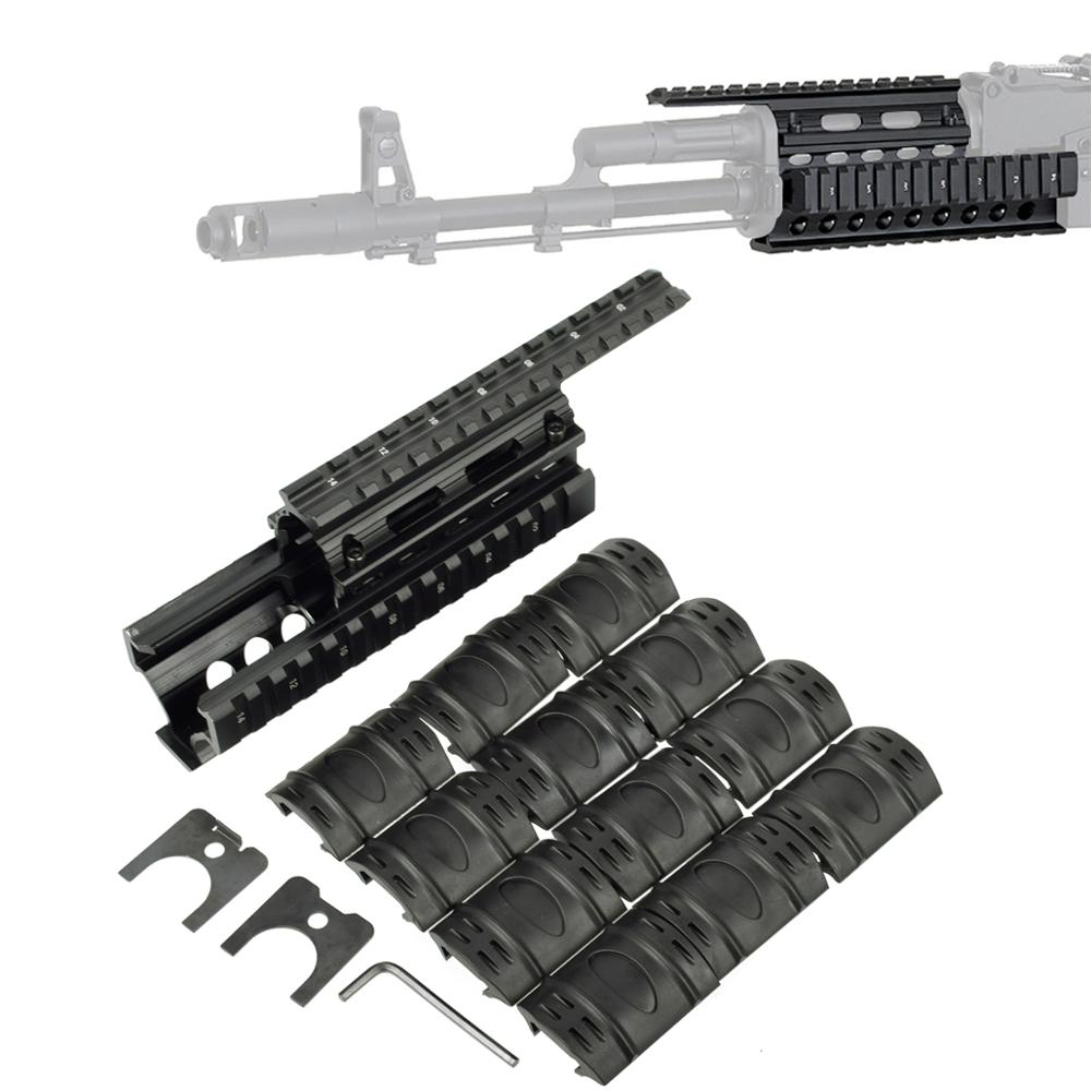 Tactical Drop in Quad Rail Scope Mount RIS Handguard for AK 47 AK74 AKS Hunting Shooting Airsoft Rifle Accessory with Rail Cover(China)