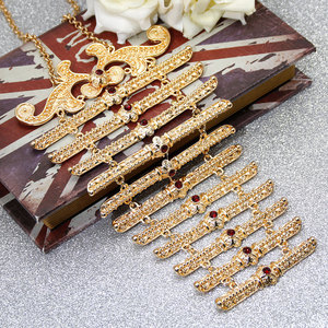 Image 5 - New Style Europe Women Breastplate Body Jewelry Wedding Dress Accessories Russia Traditional Retro Chest Chain Long Choker Gift