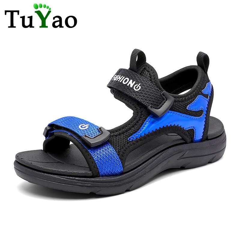 2020 Fashion Boys Summer Lightweight Sandals Big Kids Sports Sneakers Soft Comfortable Children Beach Shoes Size 28-39