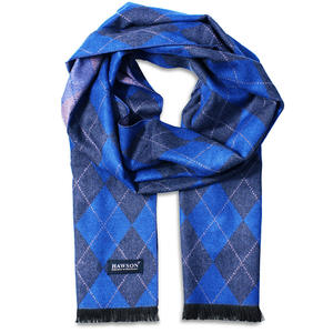HAWSON Fashionable Luxurious Winter Scarves for Men Neck Warmer Travel Head Wraps