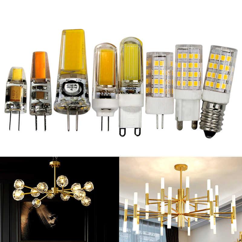 G4 G9 E14 LED Light Bulb 3W 5W 6W 7W 9W 12V Lamp 110V 220V warm white Crystal Chandeliers Bulb