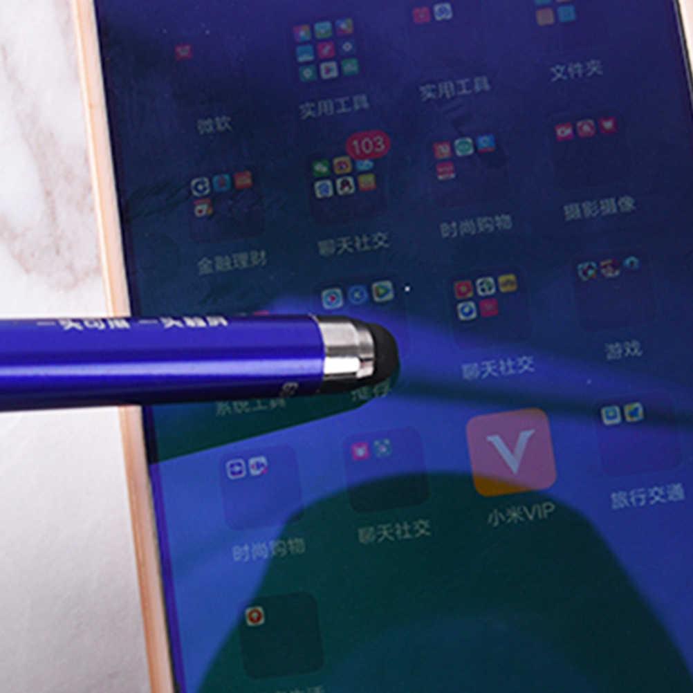 Multifunción fino punto Circular punta fina lápiz de pantalla táctil capacitivo bolígrafo pluma borrable bolígrafo táctil 2 en 1