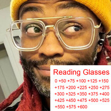 Lunettes transparentes pour ordinateur, verres carrés Anti-lumière bleue, loupe de lecture Plus 2 3 4 5