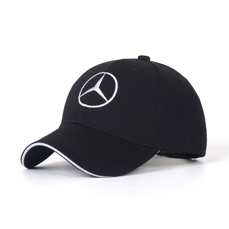 Cotton Hat Baseball Hats Caps Men Peaked Cap For Mercedes Benz Logo Sunhat Car Performance Adjustable Car Hat Summer For Women