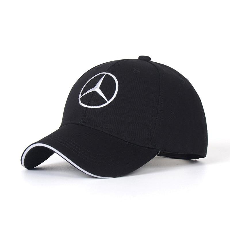Cotton Hat Baseball Hats Caps Men Peaked Cap For Mercedes Benz Logo Sunhat Car Performance Adjustable Car Hat Summer For Women