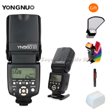 YONGNUO YN 560 III IV kablosuz Master flaş Speedlite Nikon Canon Olympus Pentax DSLR kamera flaşı Speedlite orijinal W hediye