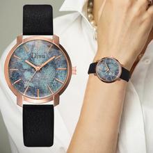 2019 Fashion Watch Women MInimalist Color Dial Student Bracelet Watches For Quartz Wristwatch Leather Band Saar