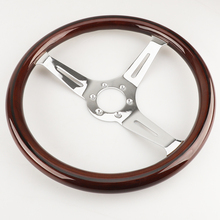 Riveted-Light Steering-Wheel Wood-Grip Classic 380mm 15--Inch Spoke Grant Nostalgia-Style