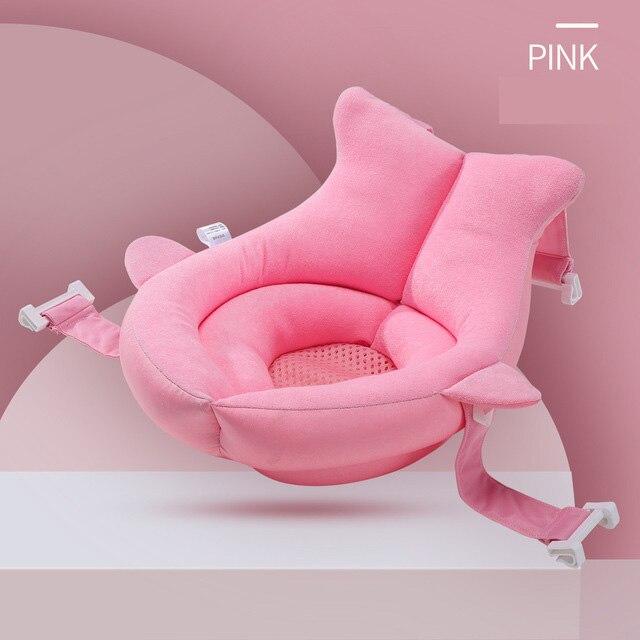 Baby Bath Cushion Infant Sponge Pad Soft Infant Newborn Bathtub Shower Pillow Non-Slip Safety Security Bath Seat Support Bed