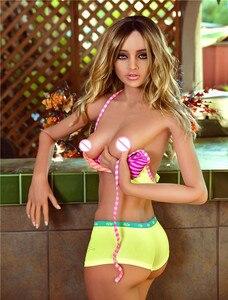 Image 1 - 165 センチメートルビクトリア人形絶妙な巨乳シリコーンセックス人形男性の現実的な膣経口尻tpeとスケルトン