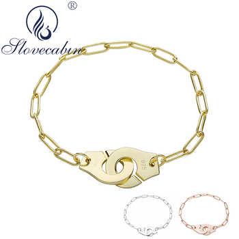 Slovecabin Original 925 Sterling Silver France Famous Handcuff Bracelet Women Engagement Menotte Hand Cuff Chain Bracelets - DISCOUNT ITEM  41 OFF Jewelry & Accessories