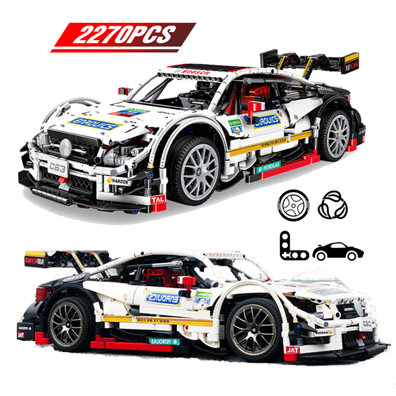 Super Racing Car Building Blocks  Technic Car Series Mercedes C63 Model  Bricks Toys For Children Gifts