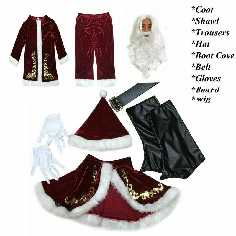 Fast Shipment Santa Claus Suit Adult Christmas Costume Fancy Dress