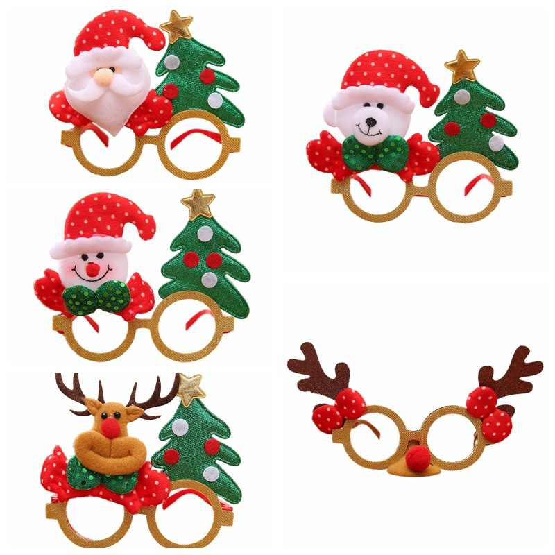 Merry Christmas Santa Claus Reindeer Snowman Novelty Cartoon Glasses Xmas Costume Decorations Gifts For Children And Adults
