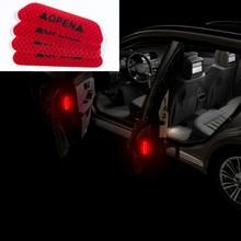 4Pc רכב דלת בטיחות אזהרה רעיוני מדבקות פתוח מדבקה עבור טויוטה קאמרי הנצח RAV4 כתר רייז קורולה Vios יאריס