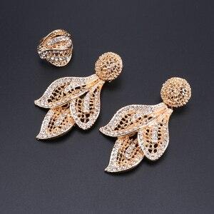 Image 5 - Bridal Gift Nigeriaanse Bruiloft Afrikaanse Kralen Sieraden Set Merk Vrouw Mode Dubai Gouden Kleur Sieraden Set Groothandel Ontwerp