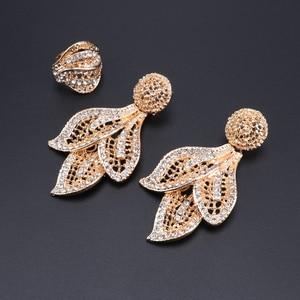 Image 5 - Bridal Gift Nigerian Wedding African Beads Jewelry Set Brand Woman Fashion Dubai Gold Color Jewelry Set Wholesale Design