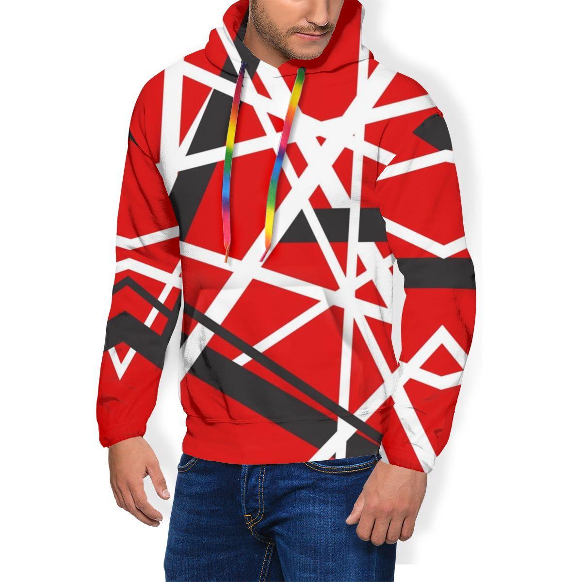 Van Halen Hoodie EVH 5150 STRIPES Hoodies Popular Polyester Pullover Hoodie Streetwear Mens Over Size Hoodies